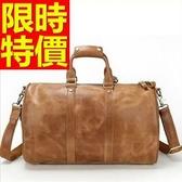 真皮行李袋-有型可肩背多用途出國男手提包1色59c27【巴黎精品】