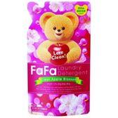 日本 FaFa 熊寶貝 洗衣精 蘋果花香 補充包 0.9kg【2234】