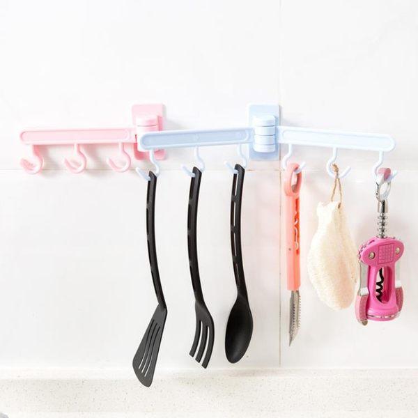 [超豐國際]可旋轉粘膠掛鉤廚房墻壁門后粘鉤浴室衛生間免釘壁掛毛巾架