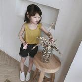 萬聖節大促銷 2018夏季新款女童兩色鏤空蕾絲背心工字型性感無袖背心韓國童裝