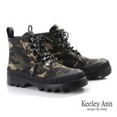 ★2019秋冬★Keeley Ann極簡魅力 個性玩酷厚底綁帶登山靴(黑色) -Ann系列