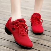 牛霸道舞蹈鞋春夏透氣軟底網面現代舞廣場舞鞋跳舞鞋女鞋跳操鞋