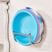 不銹鋼臉盆收納架壁掛式免打孔衛生間放盆架浴室洗臉盆收納置物架·Ifashion