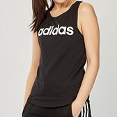 Adidas Essentials Linear Slim Tank 女裝 黑 訓練 健身 棉質 短袖 背心DU7003