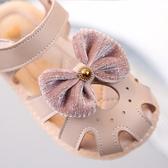 女童涼鞋夏季露趾兒童鞋寶寶軟底蝴蝶結小公主鞋