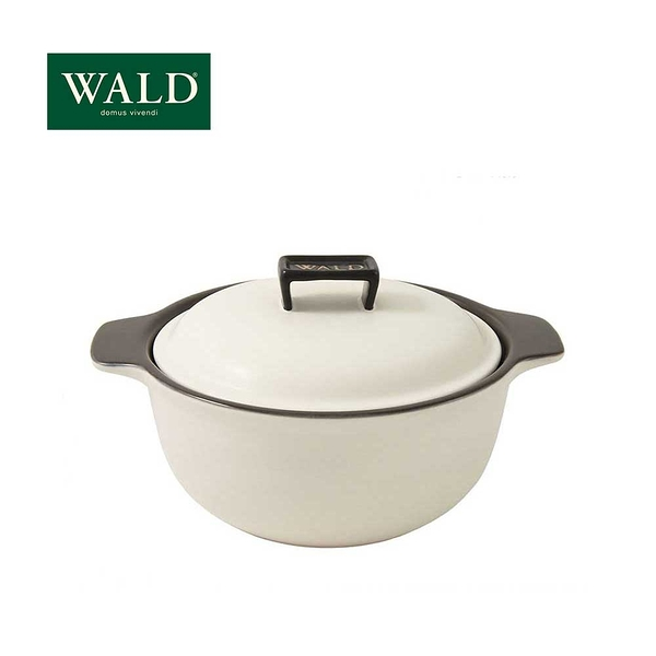 義大利WALD陶鍋系列-24cm燉鍋(粉白-有原裝彩盒)