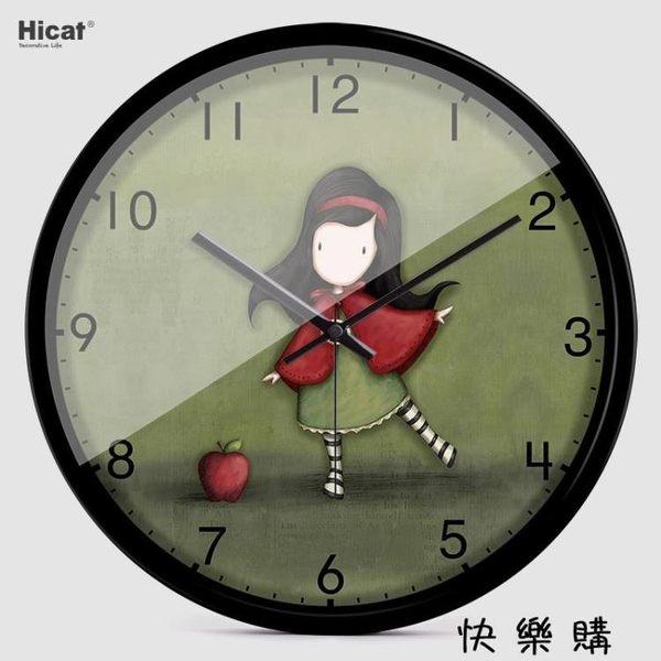 兒童房壁掛創意石英鐘表