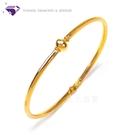 【元大珠寶】『相偎一生 亮面輕款』黃金細緻手環 日系風設計款-純金9999國家標準