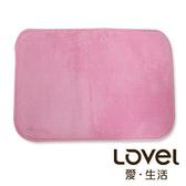 Lovel馬卡龍超細纖維止滑浴墊/地墊(俏粉紅)