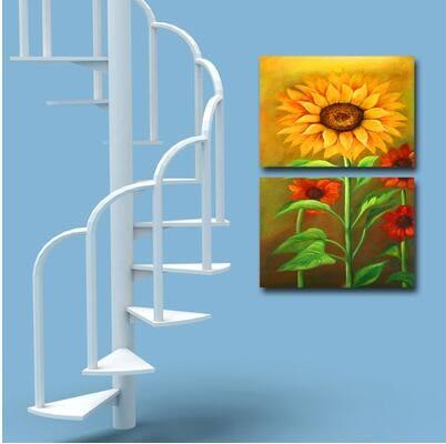 裝飾畫客廳現代簡約無框畫臥室壁畫牆畫沙發背景家飾掛畫向日葵
