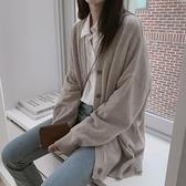 針織開衫秋冬開衫外套女針織寬鬆外穿慵懶風上衣2021春秋裝新款韓版毛衣女 韓國時尚