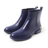 Petite Jolie  簡約時尚金屬短靴-藏藍色