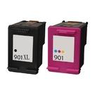 【一黑一彩組合】HSP NO.901XL+901 環保墨水匣 適用J4524/J4535/J4580/J4624/J4660
