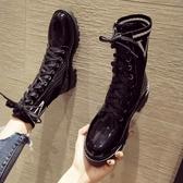 現貨 馬丁靴女百搭秋冬靴子冬季短靴【極簡生活】