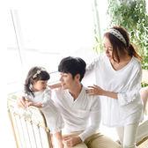 韓版純白蕾絲長袖上衣親子裝(大人)