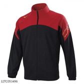 MIZUNO 男裝 外套 套裝 針織 吸汗快乾 抗紫外線 黑紅【運動世界】32TC053496
