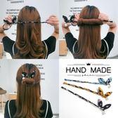 丸子頭盤發器造型器百變蓬鬆花苞頭韓國懶人美發工具頭飾成人發飾