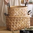 花籃 手工木片編織籃竹編竹籃子手提收納籃桌面收納筐菜籃購物籃野餐籃 道禾