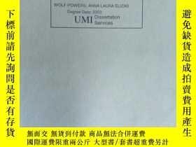 二手書博民逛書店UMI罕見Dissertation ServicesY15389