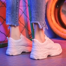 增高鞋 運動鞋女鞋2021夏季新款百搭小白增高透氣網面老爹ins潮鞋子春季 薇薇