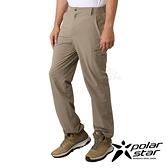 PolarStar 男 四向彈性抗UV長褲『卡其』P21355 戶外 休閒 登山 露營 運動褲 釣魚褲