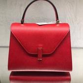 ■專櫃77折■全新真品■Valextra 義大利頂級品牌中款 Iside 兩用包 紅色