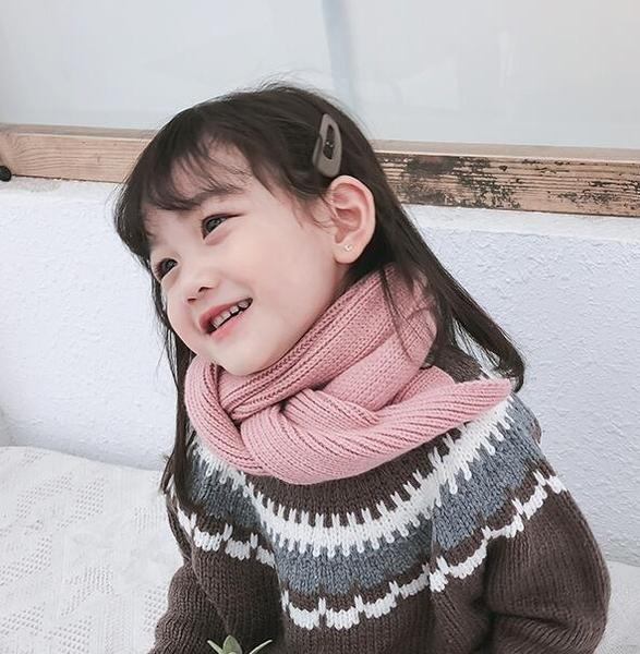 兒童圍巾冬季毛線圍巾