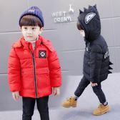 羽絨外套 男童外套加厚棉襖新品1-6歲4寶寶連帽兒童加厚秋冬季