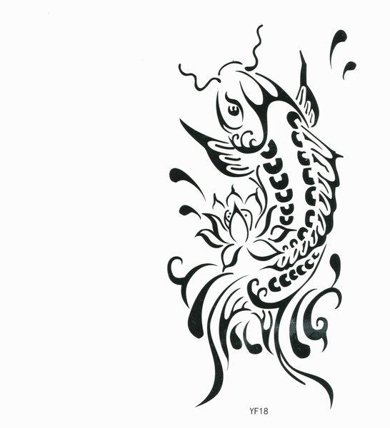 薇嘉雅  鯉魚  紋身貼紙 YF18
