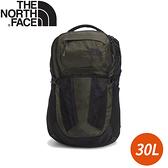 【The North Face 30L RECOM 舒適防護雙肩後背包《墨綠黑》】3KV1/雙肩背包/休閒背包/電腦包