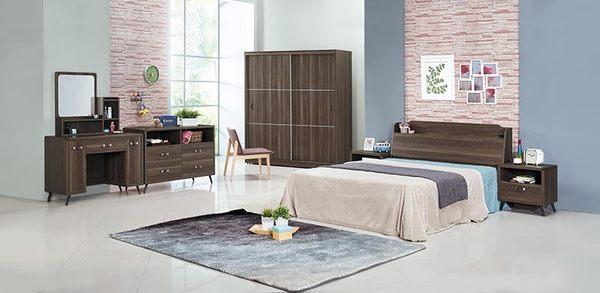 【森可家居】奧斯汀胡桃6x7尺衣櫥 7JX11-6 衣櫃 左右推拉門 木紋質感 北歐工業風 MIT