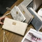 長夾 2020新款錢包女長款拉鍊 日韓版簡約復古女士手拿錢包大容量皮夾 一次元