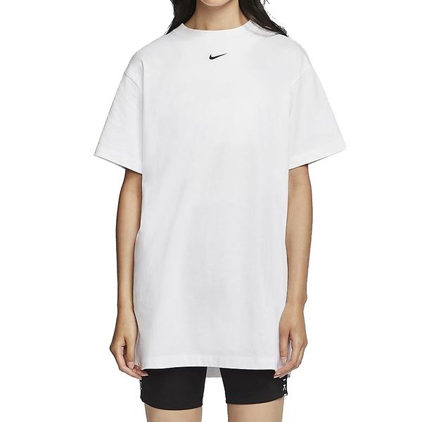 NIKE NSW ESSNTL SS DRSS 白 女 圓領 寬鬆 休閒 短袖 長版 上衣 洋裝 CJ2243100