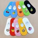 韓國女襪 水果調色盤 隱型襪 船型襪 矽膠防滑隱形襪 短襪