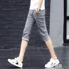 夏季薄款7七分牛仔褲男士韓版修身小腳褲潮流男裝短褲中褲男褲子 3C優購