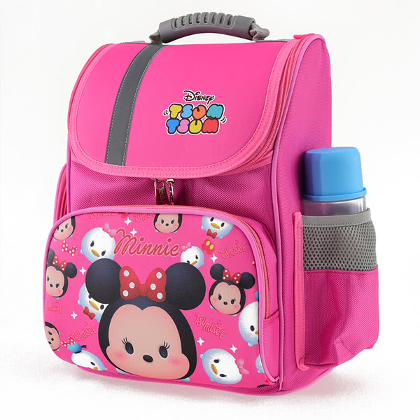 【Disney 迪士尼】Tsum Tsum系列立體護脊書包-粉色