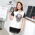 T恤【1557】FEELNET中大尺碼女...