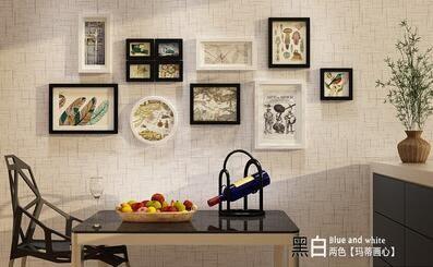 高端實木照片牆現代簡約相片牆家居背景牆裝飾組合相框2134