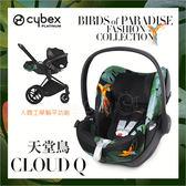 ✿蟲寶寶✿【德國Cybex】頂級享受 Cloud Q Fashion 汽車安全座椅/提籃 限量-天堂鳥