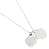 Tiffany & Co. 銀色迷你雙心純銀項鍊