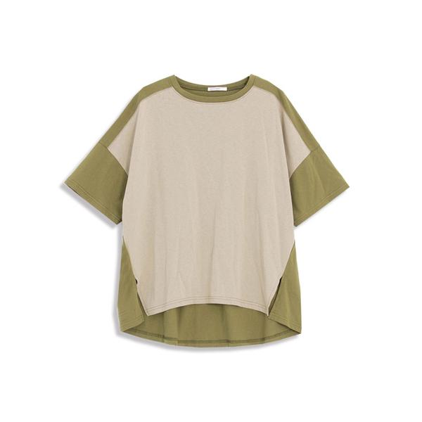 Queen Shop【01038218】前短後長撞色T恤 兩色售*現+預*