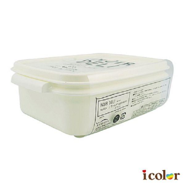 icolor 日本製 純白方形便當盒(870ml)
