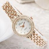 手鏈錶女士手錶女款時尚潮流女生手錶女學生韓版簡約防水休閒大氣QM『艾麗花園』