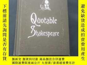 二手書博民逛書店Quotable罕見ShakespeareY19017 Max