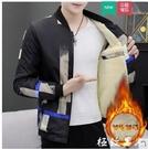 男生外套休閒外套男士秋冬季加絨韓版棒球服青少年工裝夾克加厚百搭褂子男『極致男人』