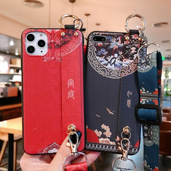 (掛繩腕帶殼)蘋果i11 Promax保護殼iPhone8Plus保護套i7Plus i6sPlus iPhoneX 宮廷系列手機殼XSmax 防丟殼