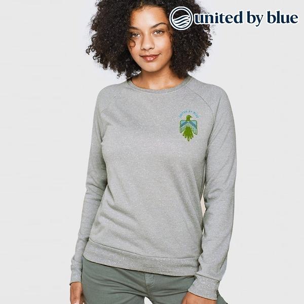 United by Blue 女起球圓領長袖上衣 201-080 Folk & Fauna Crew Pullover / 城市綠洲 (有機棉、環保、長袖T)