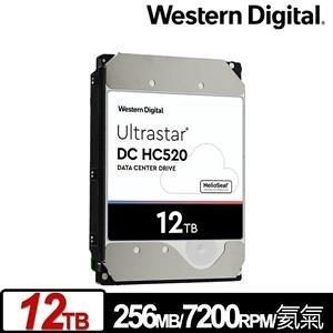 【綠蔭-免運】WD Ultrastar DC HC520 12TB 3.5吋企業級硬碟