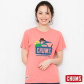 CHUMS 日本 女 登山客 RAYON Trecking Booby 短袖T恤 粉紅 CH111098R018