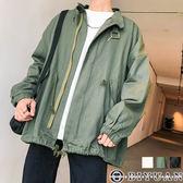 【OBIYUAN】軍裝外套 素面 抽繩造型 工裝 棉質外套 共3色【FTH203】